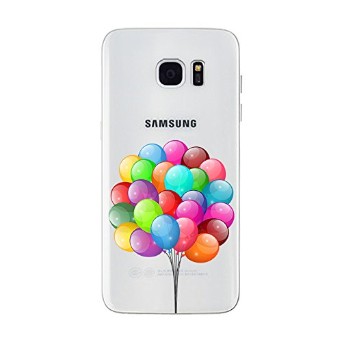 iPhone 6 plus Hülle, Schutzhülle Case Silikon- Clear Ultra Dünn Durchsichtige Backcover TPU Case für iPhone 6plus 6splus Ballon 1
