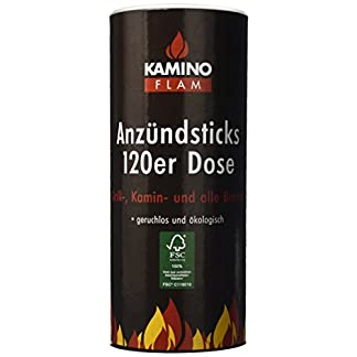 Kamino-Flam 333174 Juego de Pastillas de Encendido, 100 Unidades, Marrón, 28×11.8×11.8 cm