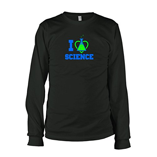 TEXLAB - I love Science - Langarm T-Shirt Schwarz