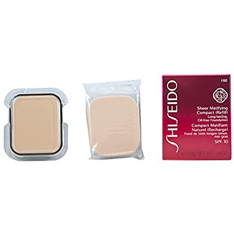 Shiseido Foundation Sheer Matifying Compact Refill Number I60, Natural Deep Ivory 10 ml by SHISEIDO