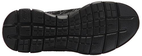 Skechers Flex Appeal 2.0-New Gem, Allenatori Donna Nero (Black/charcoal)