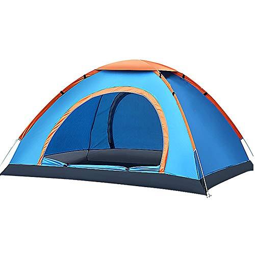 YOOFINE Pop up Strandmuschel 1-3 Personen automatisches Campingzelt Familienzelt Tunnelzelt Schnellaufbau für Camping Wandern Reisen Strand
