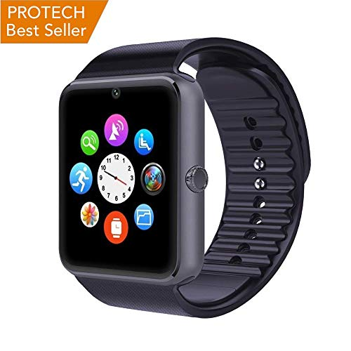Smartwatch Android Uomo PROTECH Orologio Bluetooth Smart Watch Fitness compatibile con iPhone Samsung Huawei con SIM e Fotocamera