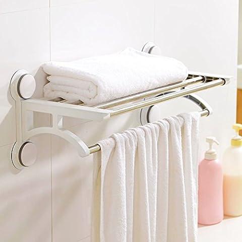 SJMM Die Saugnapfhalterung EDELSTAHL WC Badezimmer Handtuchhalter Vitrinen Kleidung bad