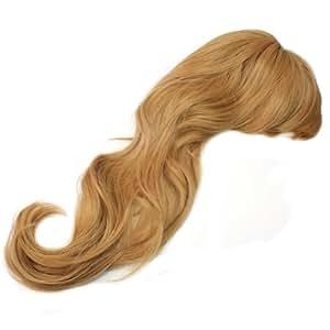Les cheveux synthétiques Longs bruns blonde de perruque perruques frisées