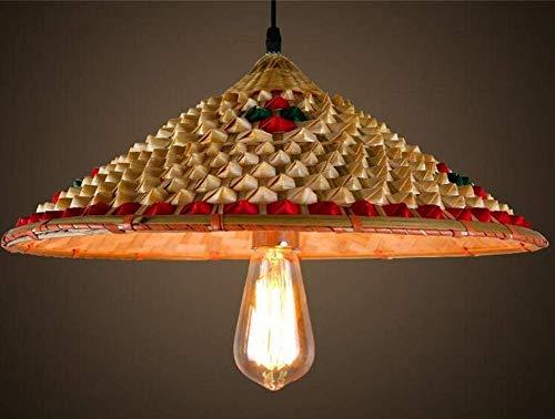 Kronleuchter mit chinesischem Wind, Bambus, Hut, Lampe, Kronleuchter, personalisierbar, für Töpfe, Restaurants, Bauernhof, Kronleuchter (Größe optional)