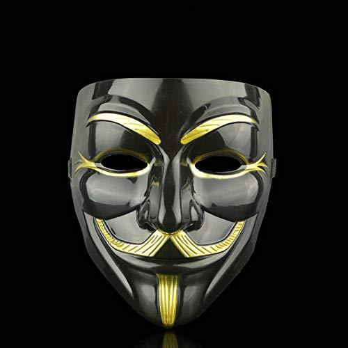 Gesicht Kostüm Zwei - FENGZ Gold Silber Gesichtsmaske Partei Maske Für Gesicht Kostüme Karneval Maske Bachelorette Party Supplies Hallow Party Halloween Maske,2