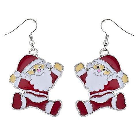 LUX Zubehör festliches Weihnachten Happy Dancing Santa Drop Ohrringe (Dancing Santa Weihnachten)