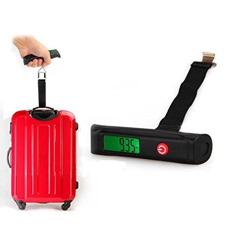 Multifunción báscula para equipaje escala Digital báscula para maletas 110Lb/50kg capacidad