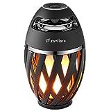 Zanflare LED Flamme Lampe mit Bluetooth Lautsprecher,Brennende Flamme Nachttischlampe Tischlampe Hallowen Beleuchtung Warmer Flammeneffekt Innen und außen für Zimmer, Garten, Party Freien Dekoration