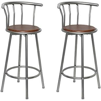 Sgabello bar cucina pub coppia di sgabelli con schienale for Poltroncina cucina