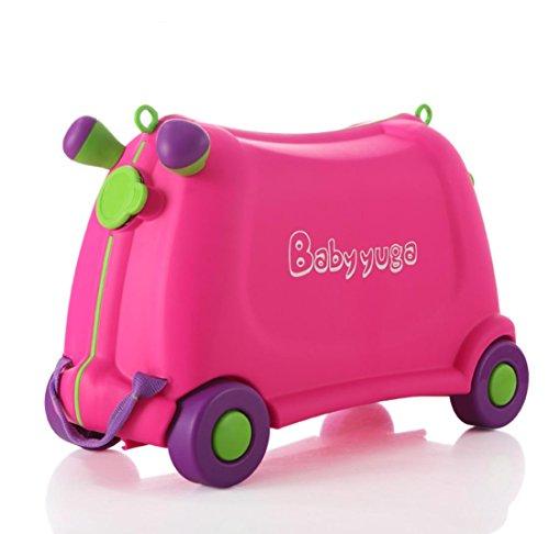 Borsa trolley babyyuga bambini giocattolo con contenitore giocattolo valigia può essere corsa per bambini di 3-6 protezione ambientale plastica ABS , pink