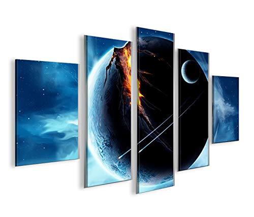 islandburner Bild Bilder auf Leinwand Wars V5 MF Star XXL Poster Leinwandbild Wandbild Dekoartikel Wohnzimmer Marke
