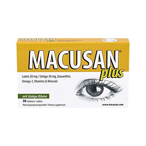Macusan Plus - Pastillas para los ojos - Suplementos para la salud macular - Vitaminas...