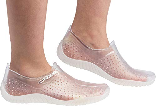 Cressi Water Shoes Escarpines, Unisex Adulto, Claro Transparente, 37 EU