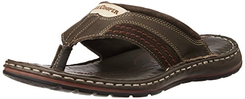 86c5691fde613b Lee cooper 8907280038797 Mens Brown Leather Flip Flops Thong Sandals 8-  Price in India