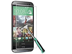 Htc Desire 626 Transparent Back Cover + Tempered Glass