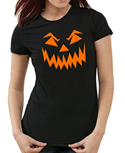 Halloween Face T-Shirt Girls Black Certified (Fashion Blogger Kostüme Halloween)