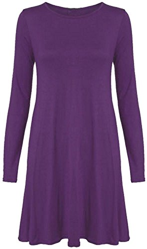 Chocolate Pickle ® Mesdames Hanky de Hem Robe évasée 36-50 purple