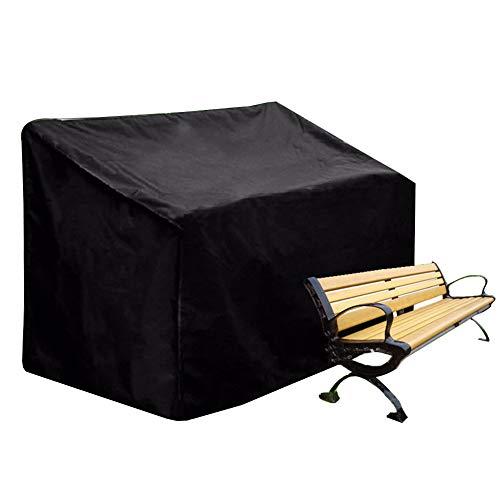 Couverture Grande couverture imperméable de banc de jardin, protection respirante résistante de meubles de sofa de tissu pour des bancs de siège 2/3/4, noirs (taille : 134x66x89cm)