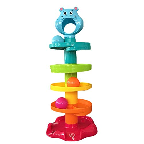Xuanyang Rolling Ball Tower, Kinder Puzzle Bär Rolling Ball Schicht Stacking Ball Turm Farbe Rotierenden Kind Cartoon Ball -