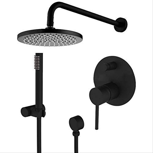 SMEI Messing Schwarze Dusche Set Badezimmer Wasserhahn Wand Dusche Arm Diverter Mixer Handheld Spray Set Mit Duschkopf