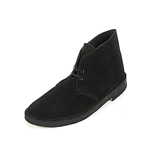 Clarks Originals Desert Boot, Herren Kalt gefüttert Desert Boots Kurzschaft Stiefel & Stiefeletten, Schwarz (Black), 44