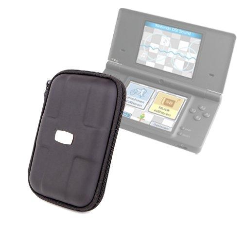 Hat Hinten Reißverschluss (DURAGADGET Hochwertige schwarze Schutzhülle mit Reißverschluss für Nintendo 3DS mit Innentasche und elastischer Handschlaufe)