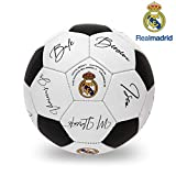 Real Madrid C.F. Official License 3 Ply PU Material All Surface Football, Size