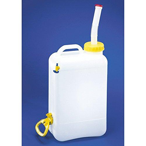 Caravan Wasserkanister Transportbehälter mit Auslaufhahn (Einheitsgröße) (Weiß)
