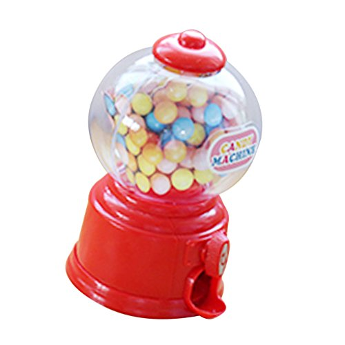 Sharplace Coin Bank Dispenser Gumball Machine in Plastica ABS Articoli da Regalo e Scherzetti - Rosso