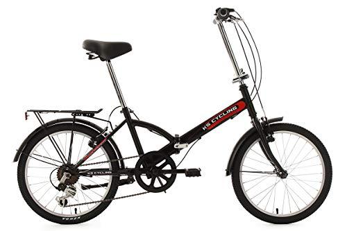 KS Cycling Fahrrad Faltrad Classic RH 32 cm, Schwarz, 20, 569B
