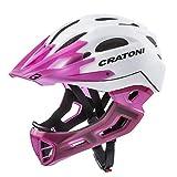Cratoni Downhill Helm C-Maniac, White-lucentpink matt, Gr. M-L (54-58 cm)