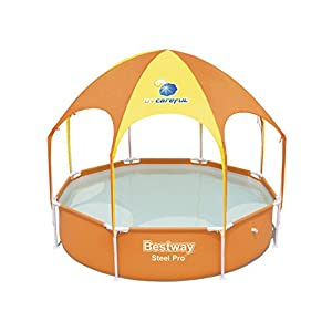 Bestway 56432 – Piscina Desmontable Tubular Infantil Splash-In-Shade con Parasol 244×51 cm