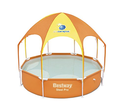 Bestway 56432 - Piscina Desmontable Tubular Infantil con Parasol Bestway Splash-In-Shade 244 x 51 cm