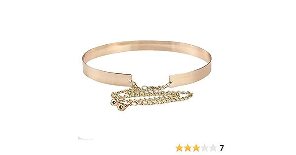 1482 Kettengürtel Hüftgürtel Taillengürtel Metallgürtel Blütenlook gold silber