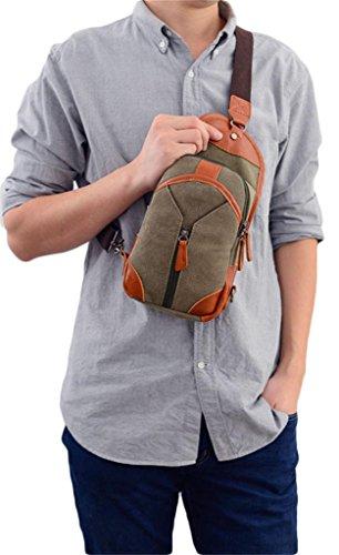 Auspicious beginning Lässigen Stil Leinwand modisch Leinwand schwarz Brusttasche für Männer Grau