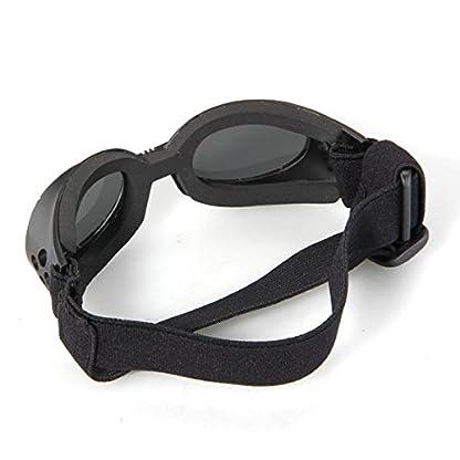 FACILLA® Black Framed Pet Puppy Dog UV Protection Doggles Goggles Sunglasses Eyewear 4