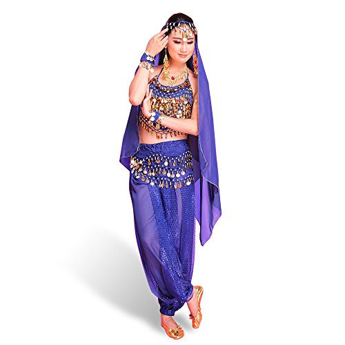 SymbolLife Belly Indian Dance costumes, Bauchtanz kostüm damen -