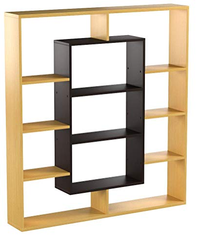 HOMIDEA Venus Libreria - Scaffale per Libri - Scaffale per Ufficio/Soggiorno dal Design Moderno (Faggio/Wengè)