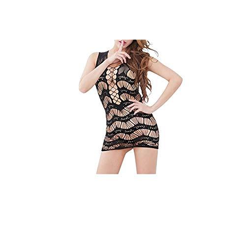 Lialbert Sexy Body Dessous Damen Spitze, Reizwäsche Bodysuit Ouvert Strappy Unterwäsche Negligee Rückenfrei Lingerie Lace Up
