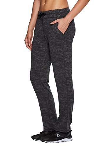 RBX Active Women's Lightweight Sweater Knit Casual Pant Black L (Pants Knit Lightweight)