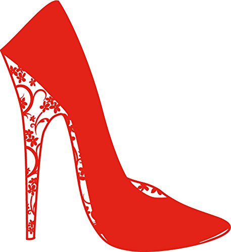 GRAZDesign Wandtattoo für Schuhschrank - Schlafzimmer Wandtattoo High Heel - Wandsticker Frauen Schuh / 33x30cm / 670088_30_034