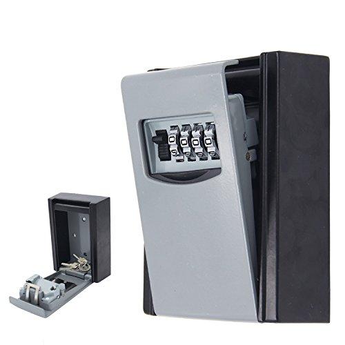 ksun 4-stellige Kombination Schlüssel Safe Box Wand montiert Wetter beständig Sichere Box Schlüssel Halter für Zuhause mit wasserdicht Cover und Montageset Schlüssel Aufbewahrung Lock Box