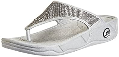 Bata Women's Kafi Silver Slippers - 8 UK/India (41 EU) (5722014)