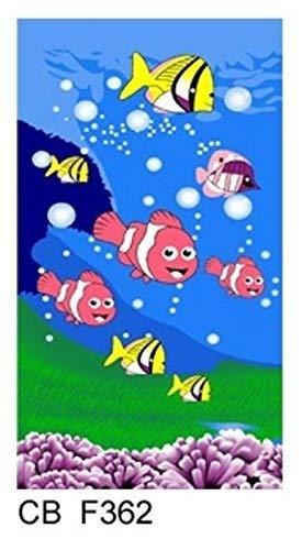 Home-Expressions Strandtuch/Badetuch für Kinder oder Erwachsene, Motiv Fische, Jungen/Mädchen, tolles Geschenk, Hellblau/Rosa