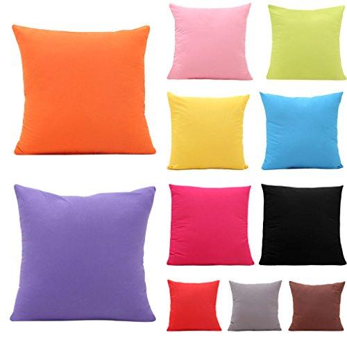 Manyo tinta unita federa, fodera per cuscino, sedia da auto, 45x 45cm, poliestere, violet, 45x45cm(17.72x17.72in)