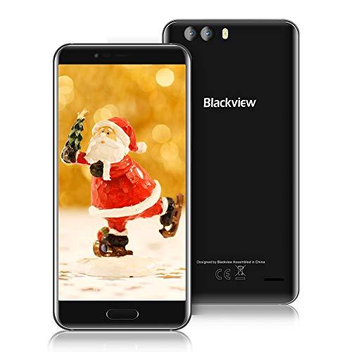 Blackview P6000 Handy Ohne Vertrag, 5,5 Zoll 64 GB ROM+6 GB RAM 6180mAh Akku mit 12V/2A Schnellladung, 21 MP Kamera,Android 7.1.1 Dual SIM 4G samrtphone ohne Vertrag, Gesicht ID/GPS/OTG - Schwarz