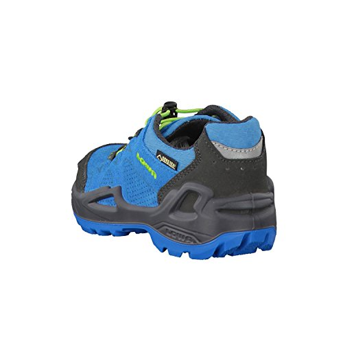 Lowa Diego Gtx Lo, Stivali da Escursionismo Unisex – Bambini blau/limone