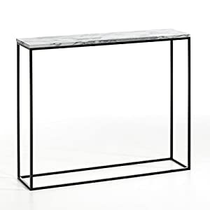 Am.Pm Mahaut Black Metal And Marble Console Table
